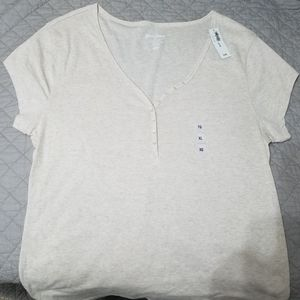 Old Navy Perfect Henley Short Sleeve Tee New W Tag